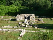 Dion, Greece. The archaeological site of ancient Dion stock photography