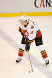 Dion Phaneuf Of The Calgary Flames Stock Photo