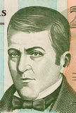 Dionisio de Herrera. On 20 Lempiras 2006 Banknote from Honduras. Liberal politician who served as head of state of Honduras during 1824-1827 and Nicaragua Royalty Free Stock Image