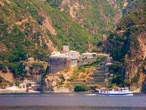 Dionysiou monastery Royalty Free Stock Image