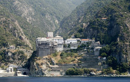 Dionysiou monastery Royalty Free Stock Images