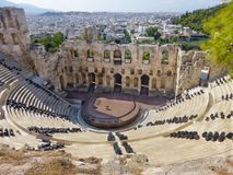 Dionysos theater of Athens city in Acropolis Stock Photography