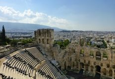 Dionysos theater of Athens city in Acropolis Royalty Free Stock Photo