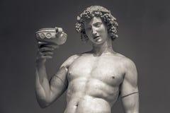 Dionysus酒神酒雕象画象 免版税图库摄影