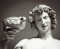 Dionysus Bacchus Wine statue portrait Royalty Free Stock Photos
