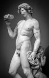 Dionysus Bacchus Wine statue portrait Royalty Free Stock Photography