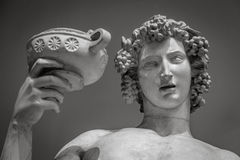 Dionysus Bacchus Wine statue portrait Royalty Free Stock Images