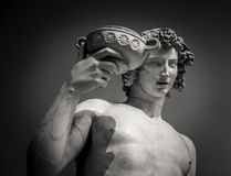 Dionysus Bacchus Wine statue portrait.  Stock Image