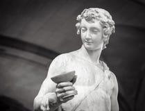 Dionysus Bacchus Wine statue portrait.  Royalty Free Stock Image