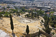 Dionysus theater at the Acropolis, Athens Royalty Free Stock Photography