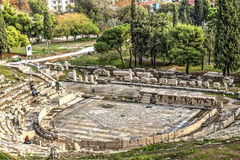 Dionysus Theatre in Athens Stock Image
