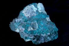 Dioptase cristal stone Royalty Free Stock Photos