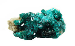 Dioptase geode geological crystals Stock Images