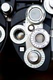 Dioptría del optómetra. Fotografía de archivo