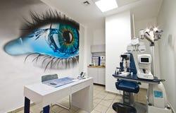 Dioptría moderna del optometrista imagenes de archivo