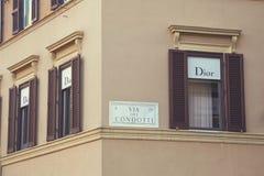Dior商店商标 免版税库存图片