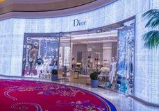 Dior商店在拉斯维加斯 库存照片