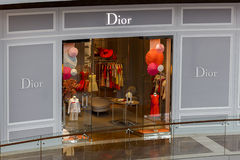 Dior精品店 免版税库存照片