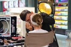 Dior试验提议在越南机场 库存图片