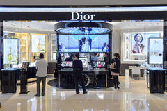 Dior cosmetics boutique interior Stock Photo