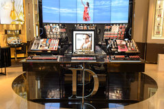 Dior cosmetics boutique interior Royalty Free Stock Photo