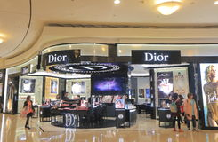 Dior cosmetics Taipei 101 Taiwan. People visit Dior store at Taipei 101 shopping mall in Taipei Taiwan Royalty Free Stock Image