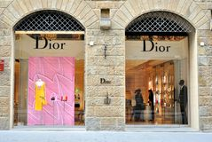Dior fashion store in Florence ,Italy stock image