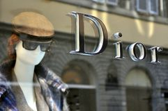 Dior fashion store in Italy  Royalty Free Stock Photos