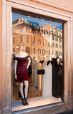 Dior fashion store in Rome, Italy Royalty Free Stock Images