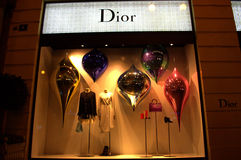 Dior fashion store showcase Stock Photos