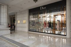 Dior in Ho Chi Minh city in Vietnam. Vietnam new economy could be seen among other things through the fact the famous brands opened their stores in Ho Chi Minh Royalty Free Stock Images