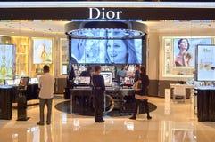 Dior kosmetyków butika wnętrze Zdjęcia Stock