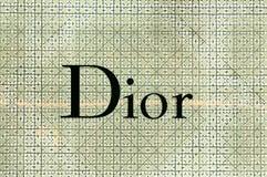 Dior-Logo am Dior-Speicher in Suvarnabhumi-Flughafen, Bangkok Stockfoto