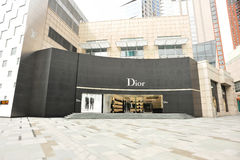 Dior and louis vuitton shop building Stock Image