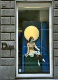 Dior luxury fashion shop in Italy stock images