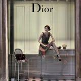 Dior-Modespeicher Stockbild