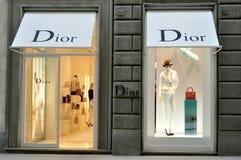 Dior mody sklep w Włochy Zdjęcia Royalty Free