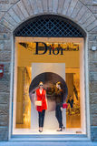 Dior shop in the city center of Florence, Italy Stock Photos