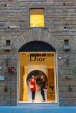 Dior sklep w centrum miasta Florencja, Włochy Zdjęcia Royalty Free