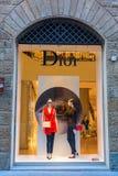 Dior sklep w centrum miasta Florencja, Włochy Zdjęcia Stock