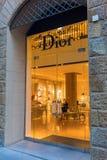 Dior sklep w centrum miasta Florencja, Włochy Fotografia Royalty Free