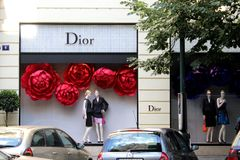 Dior store Stock Image
