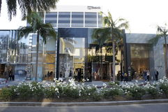 Dior. The store of Christian Dior in Rodeo Drive in Beverly Hills, LA, CA., is one of the most famous in the world Royalty Free Stock Photography