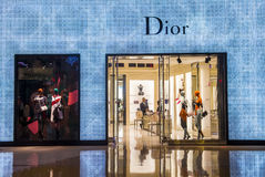 Dior store Royalty Free Stock Photos