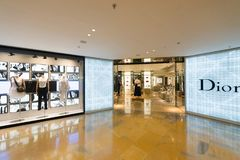 Dior store in Pacific Place shopping mall, Hong Kong stock photo