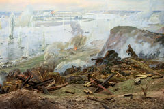 Diorama Battle of Stalingrad Stock Image