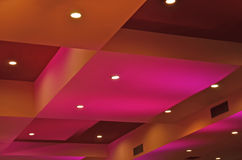 Diorama of color and light on the ceiling Stock Photo