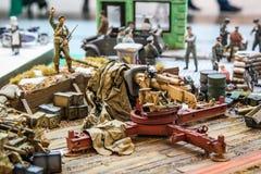 Diorama del plástico de la guerra mundial II Imágenes de archivo libres de regalías