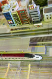 Diorama del tren de bala foto de archivo libre de regalías