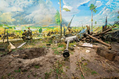 Diorama depicting the defeat of Nazi troops in Belarus. Belarusi Royalty Free Stock Photo